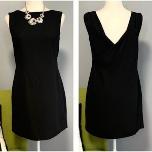 Banana Republic Black Cross Back Mini Sheath Dress